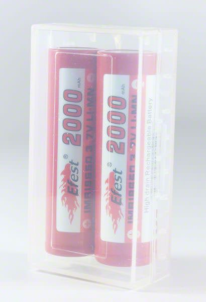 2 x 18650 Battery Case - Clear
